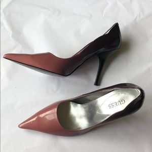 Ombré Pink to Dark Purple Guess Heels size 10